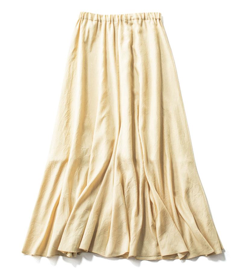 【14】カラースカート 優しげな色で品よく。¥24,200(ガリャルダガランテ/ガリャルダガランテ 表参道店)
