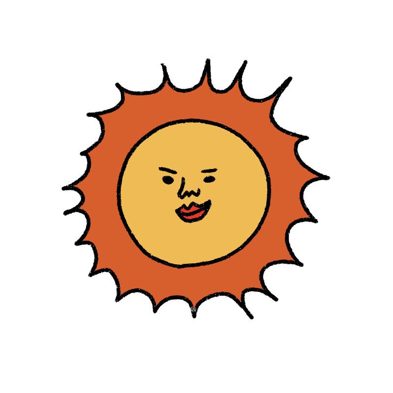 運気は良好ですが、太陽が出てい