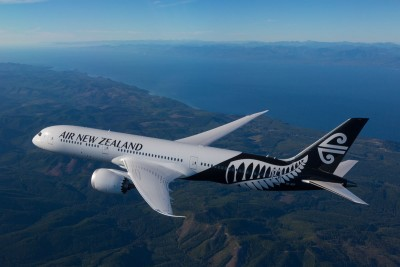 Air New Zealand Boeing 787-9, photographed on 20 September 2014 from Wolfe Air Aviation's Learjet 25B.